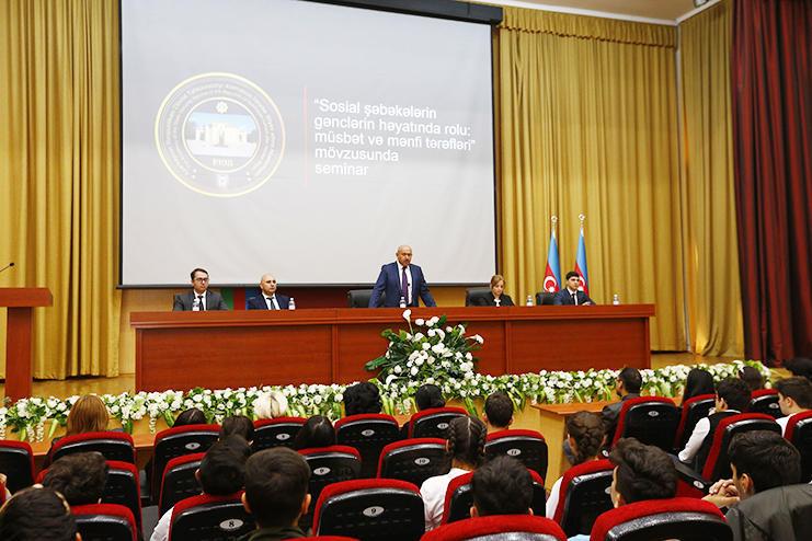 Академия СГБ имени Гейдара Алиева провела семинар на тему роли соцсетей в жизни молодежи