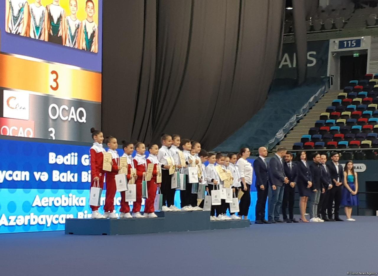 В Баку состоялась церемония награждения победителей соревнований по художественной и аэробной гимнастике