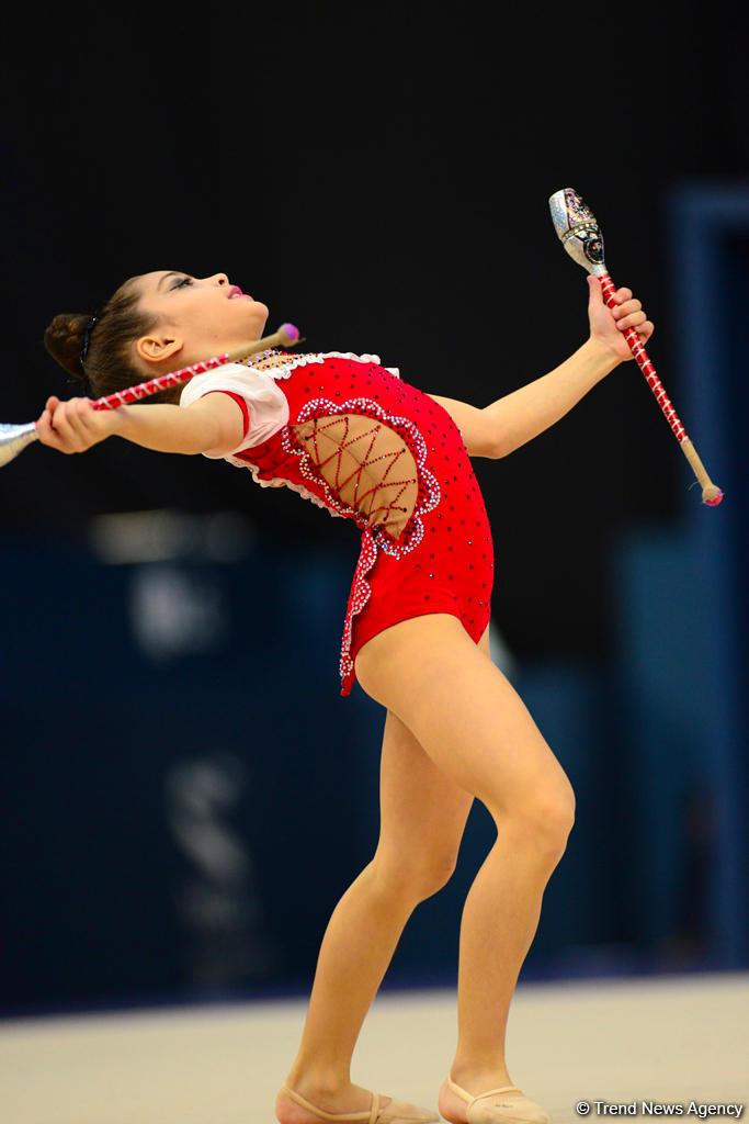 Продолжаются соревнования первенства Азербайджана и Баку и Кубка регионов по художественной гимнастике