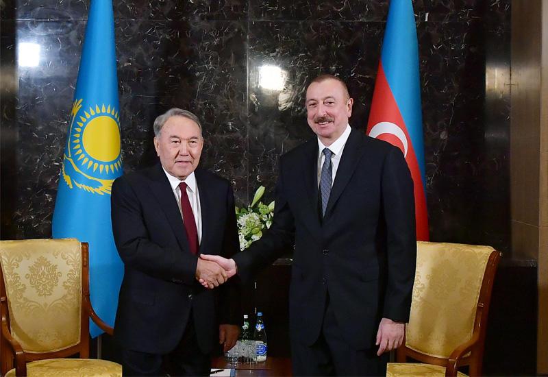 Президент Ильхам Алиев встретился с первым Президентом Казахстана, почетным председателем Тюркского совета Нурсултаном Назарбаевым