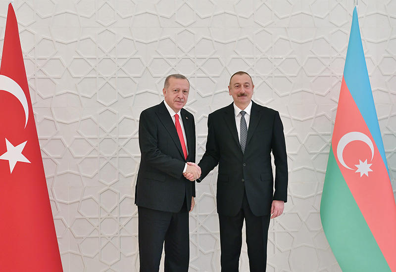 Президент Ильхам Алиев встретился с Президентом Турции Реджепом Тайипом Эрдоганом в Баку