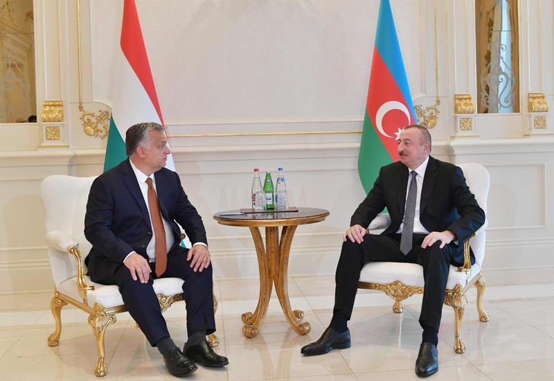 Президент Ильхам Алиев встретился с премьер-министром Венгрии Виктором Орбаном в Баку
