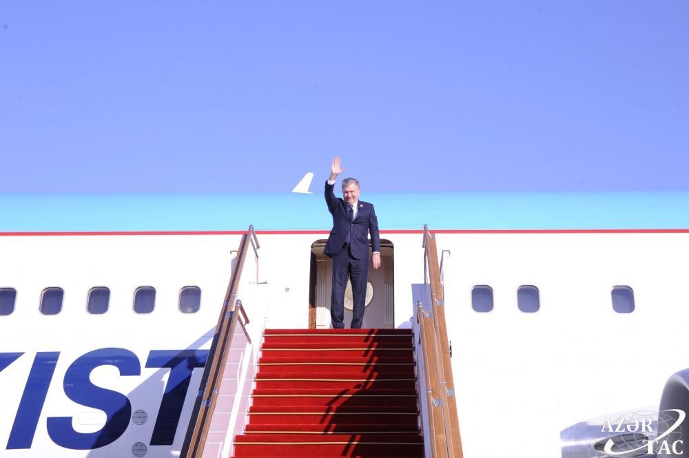 Завершился визит президента Узбекистана в Азербайджан