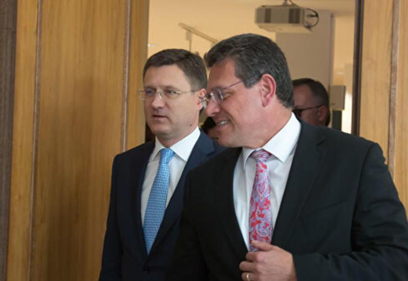 Новак и Шефчович обсудили транзит газа в страны Евросоюза