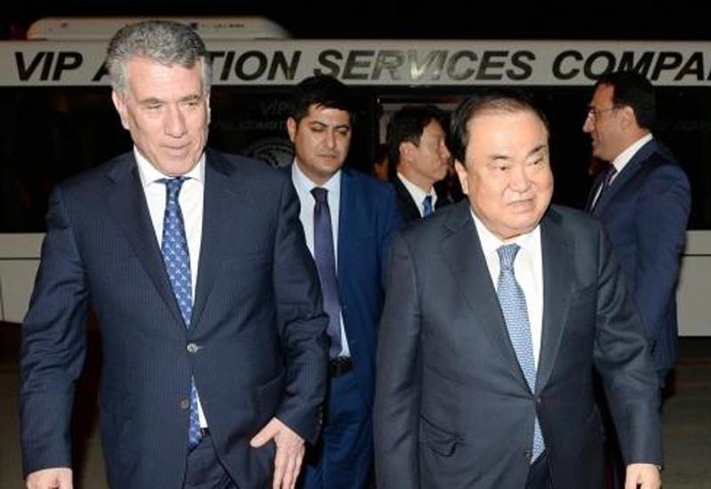Председатель Национальной ассамблеи Республики Корея прибыл с официальным визитом в Азербайджан