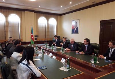 Глава азербайджанской общины Нагорного Карабаха на переговорах с сопредами МГ ОБСЕ - ФОТО