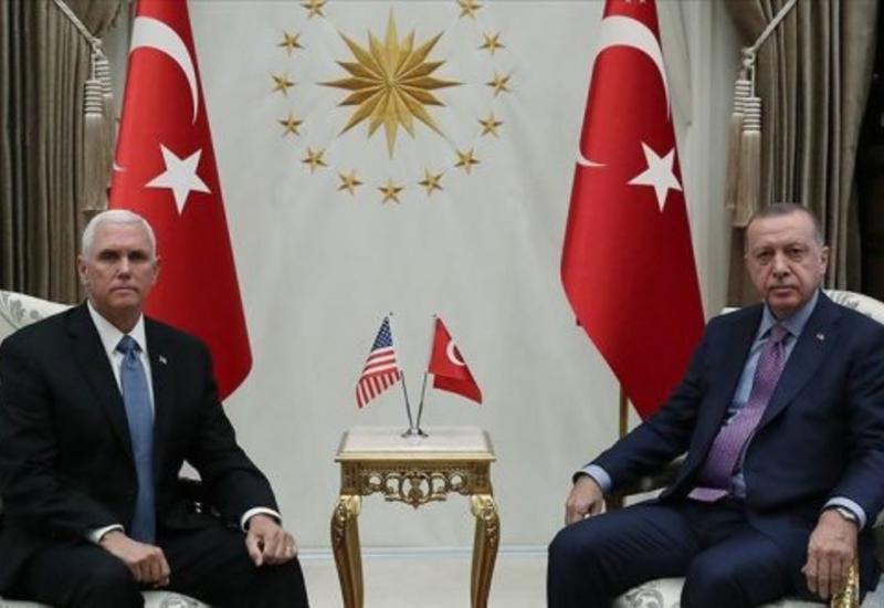 Встреча Эрдогана и Пенса в Анкаре продлилась более 1,5 часов