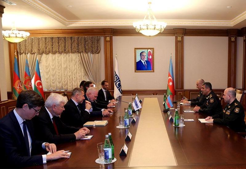Закир Гасанов на переговорах с сопредседателями МГ ОБСЕ