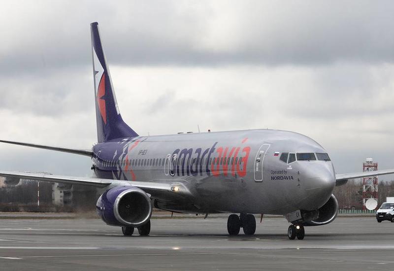 Самолет Smartavia сел в российском аэропорту после сообщения о минировании борта