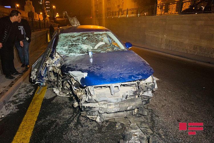 Пьяный водитель устроил тяжелое ДТП в Баку
