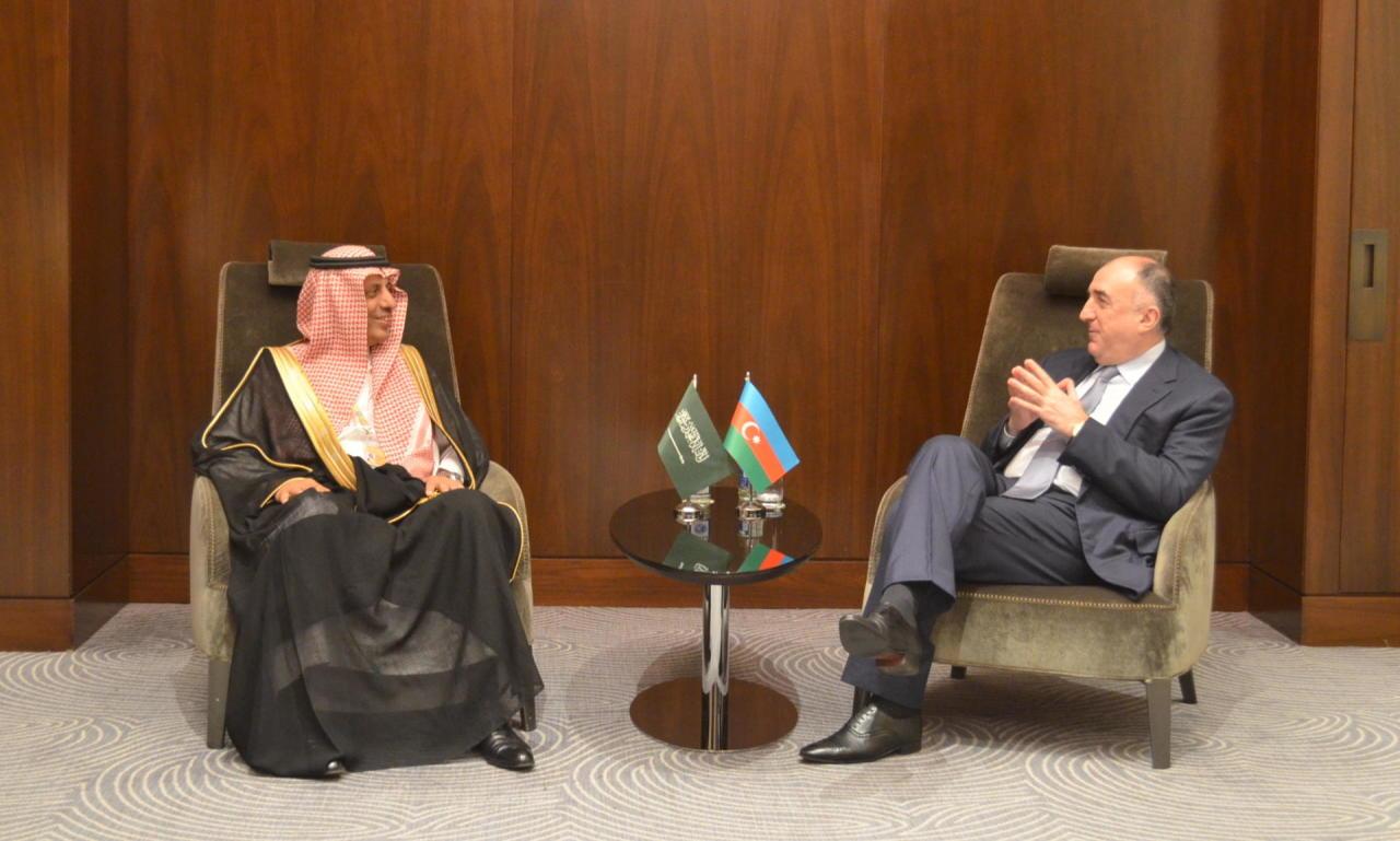 Эльмар Мамедъяров на переговорах с замглавы МИД Саудовской Аравии