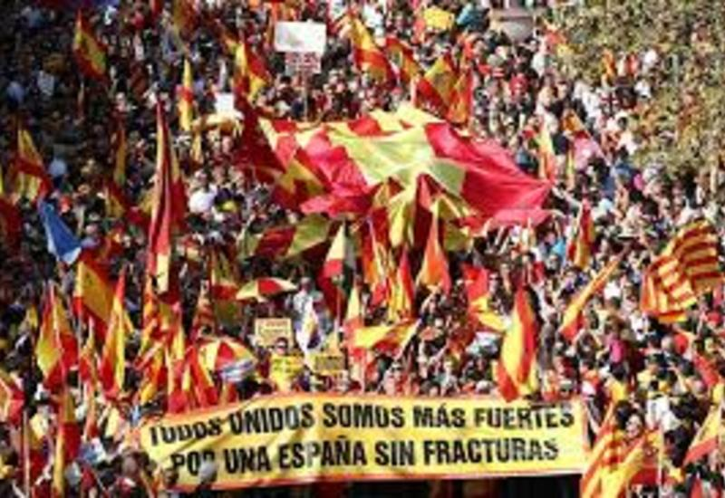 Около 80 тыс. сторонников единства Испании вышли на демонстрацию в Барселоне