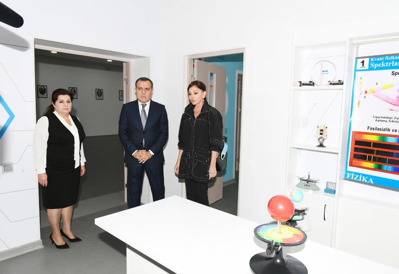 Первый вице-президент Мехрибан Алиева ознакомилась с условиями, созданными после капитального ремонта в школе-интернате номер 10 в Пиршаги