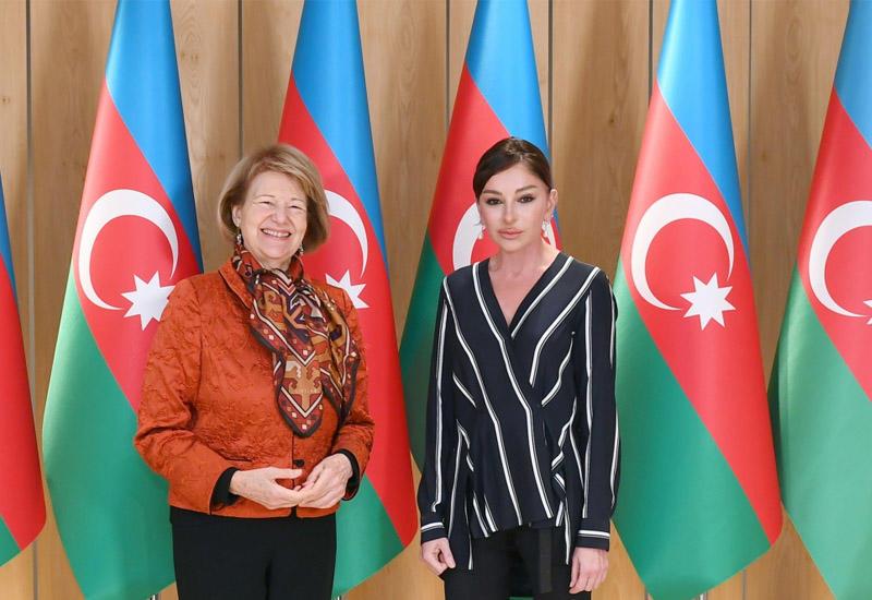 Первый вице-президент Мехрибан Алиева встретилась с торговым посланником премьер-министра Великобритании по Азербайджану