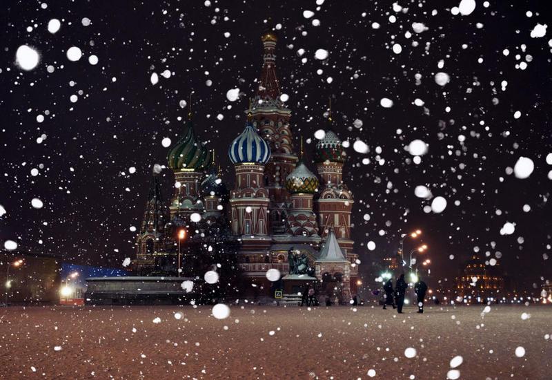 На Москву обрушился сильный снегопад