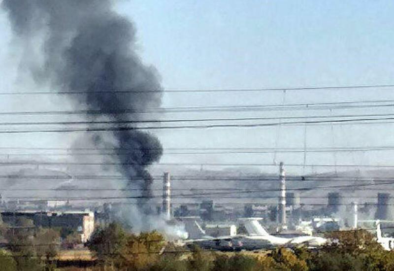 В Ереване горит амбар российской авиабазы