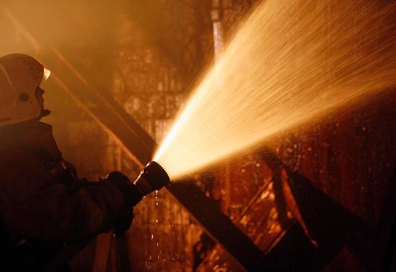 В Шамкире произошел сильный пожар