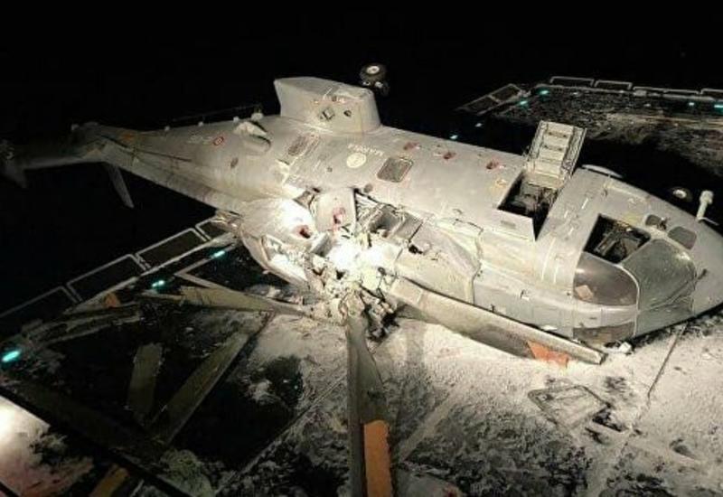 Итальянский боевой вертолет разбился об эсминец
