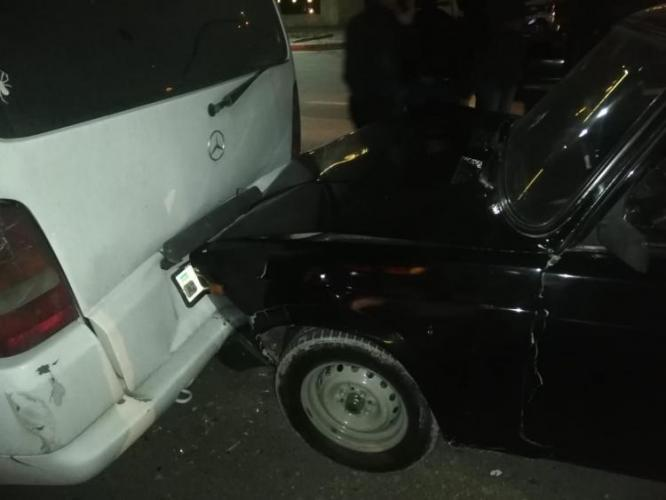 В Гяндже произошла цепная авария