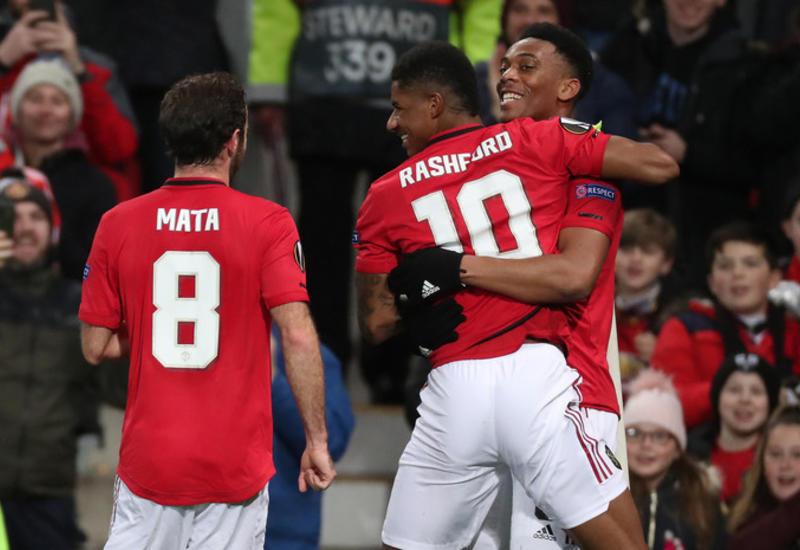 «Манчестер Юнайтед» разгромил «Партизан» и вышел в плей-офф ЛЕ