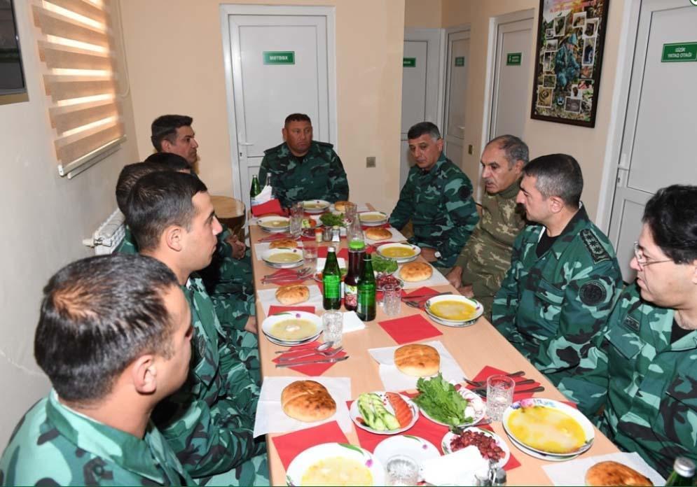 Глава Госпогранслужбы и военный прокурор Азербайджана побывали на госгранице с Арменией