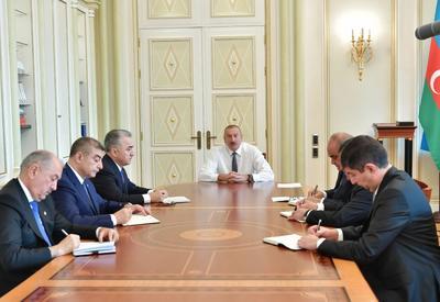 Президент Ильхам Алиев принял новых глав ИВ Ширвана, Зардаба, а также Сураханского, Ясамальского и Хатаинского районов Баку - ФОТО - ВИДЕО