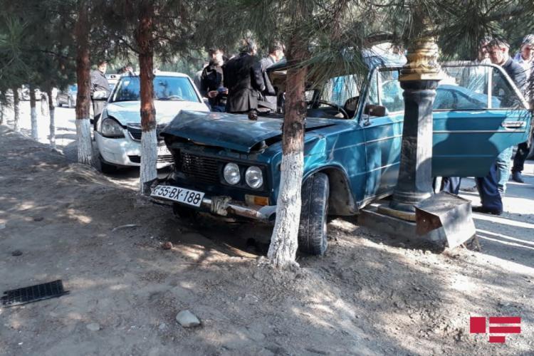 В Ширване произошла цепная авария, есть пострадавший