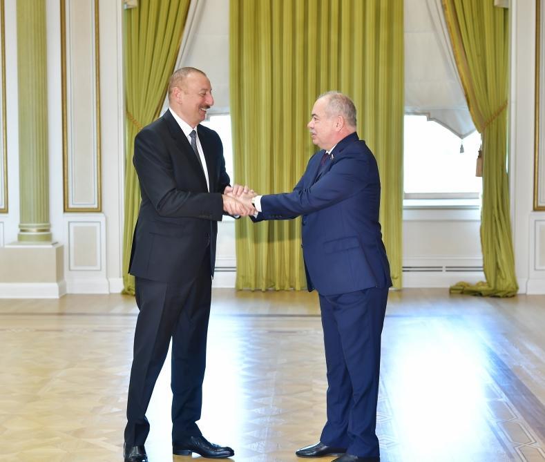 Президент Ильхам Алиев принял заместителя председателя, главу комитета Совета Федерации РФ, а также председателя и советника председателя Народного собрания Дагестана