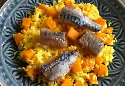 Молочный плов с тыквой и копченой рыбой - Рецепт от азербайджанского фуд-блогера