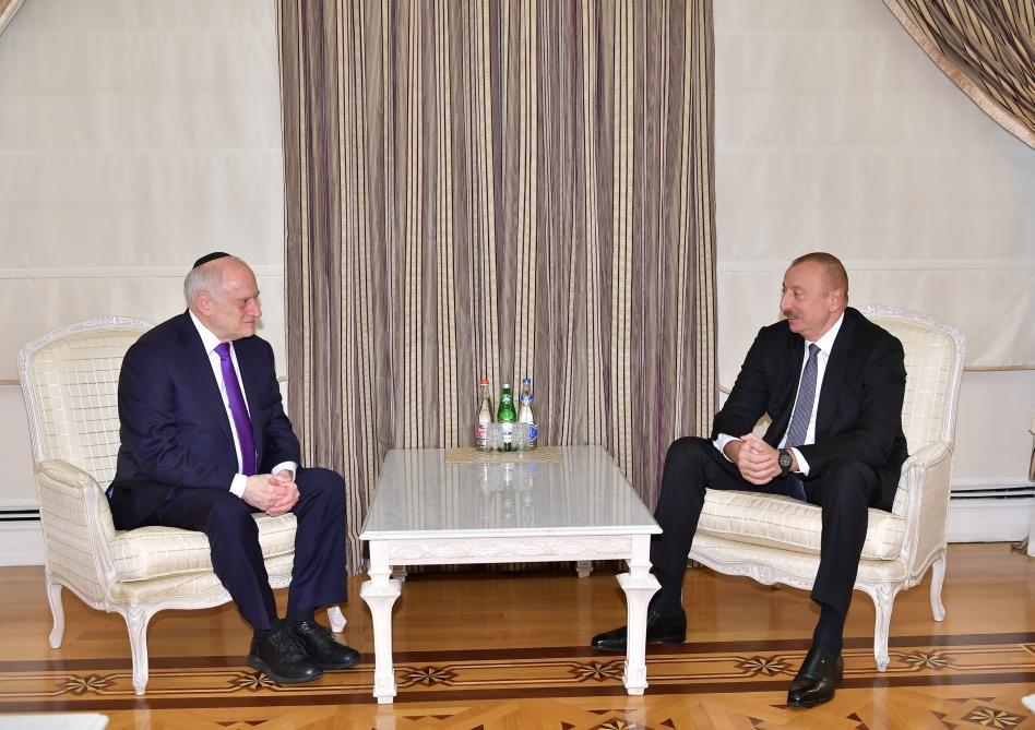 Президент Ильхам Алиев принял заместителя исполнительного председателя Конференции президентов ведущих американских еврейских организаций