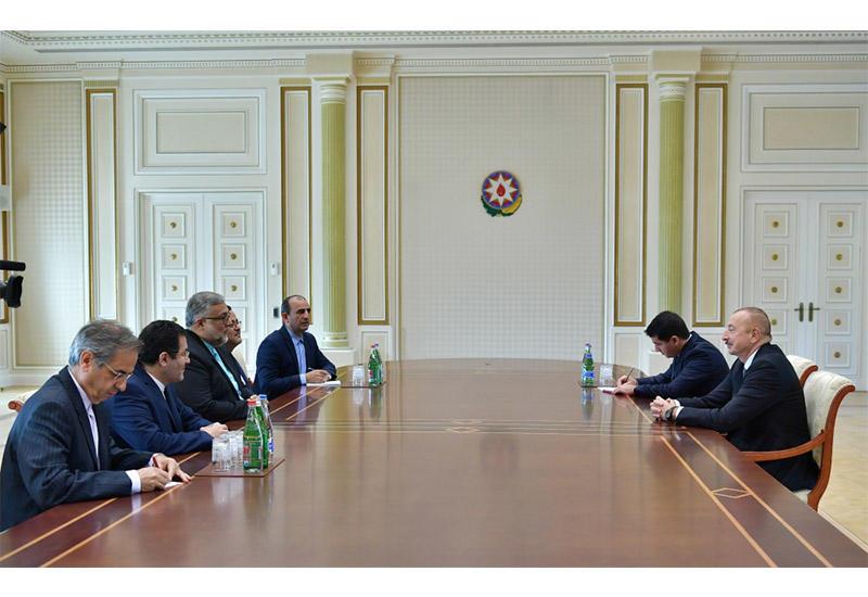 Президент Ильхам Алиев принял делегацию во главе с председателем Организации культурных и исламских связей Ирана