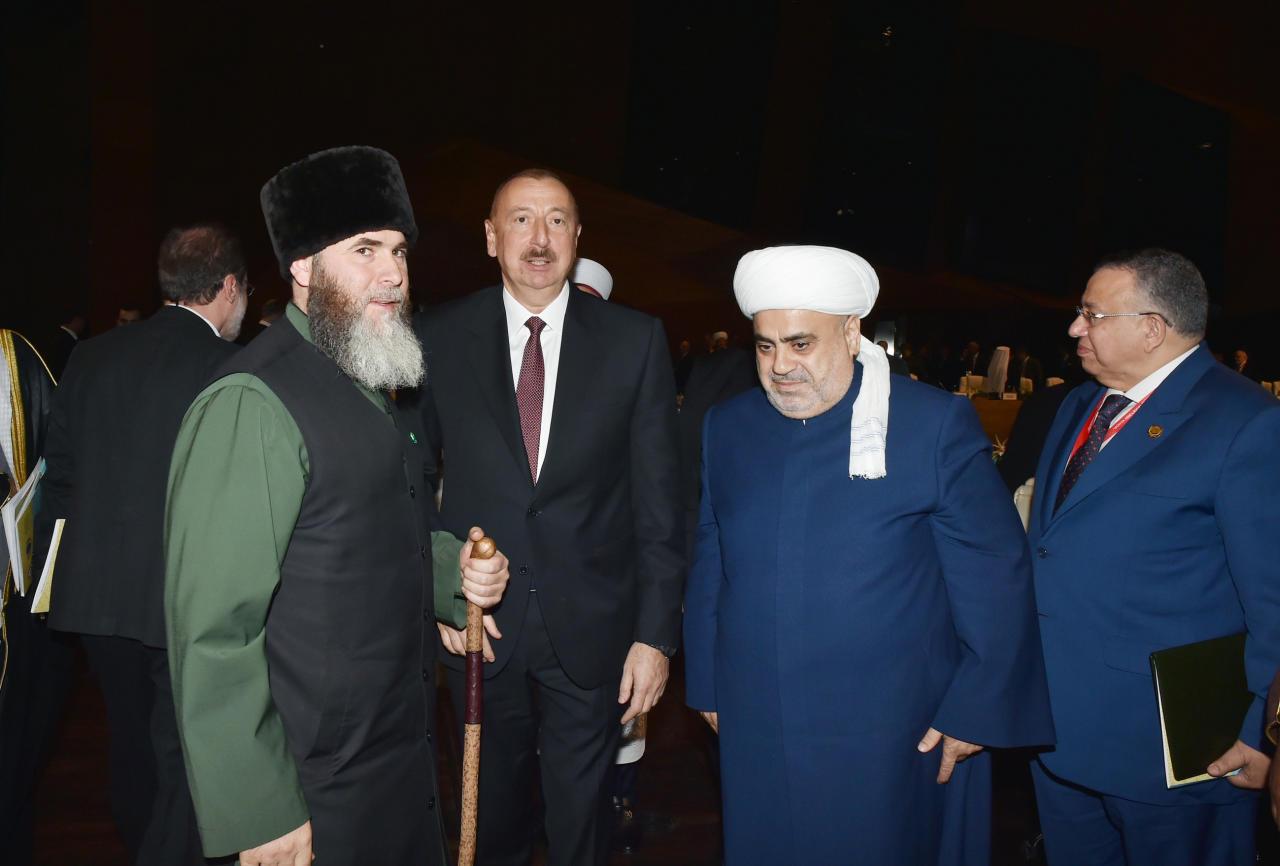 Президент Ильхам Алиев и Первая леди Мехрибан Алиева приняли участие во II Саммите мировых религиозных лидеров в Баку