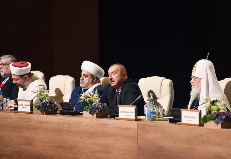 Президент Ильхам Алиев: Именно Гейдар Алиев заложил основу отношений между государством и религией, равно, как с его именем связана концепция развития Азербайджана по всем остальным направлениям