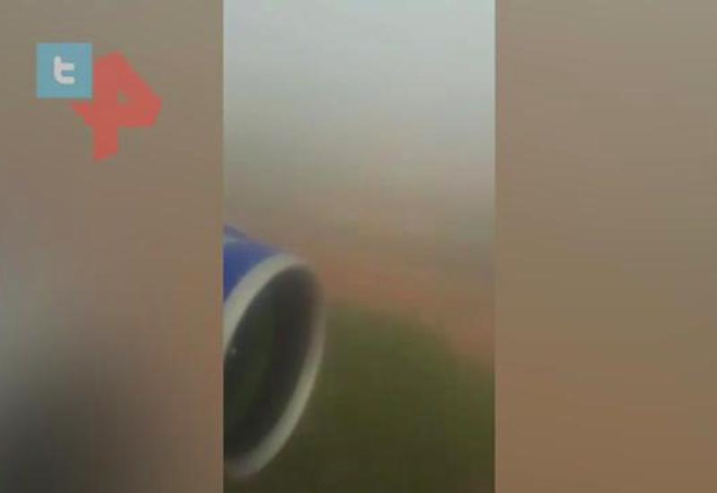 В Индии самолет выкатился за пределы ВПП при посадке