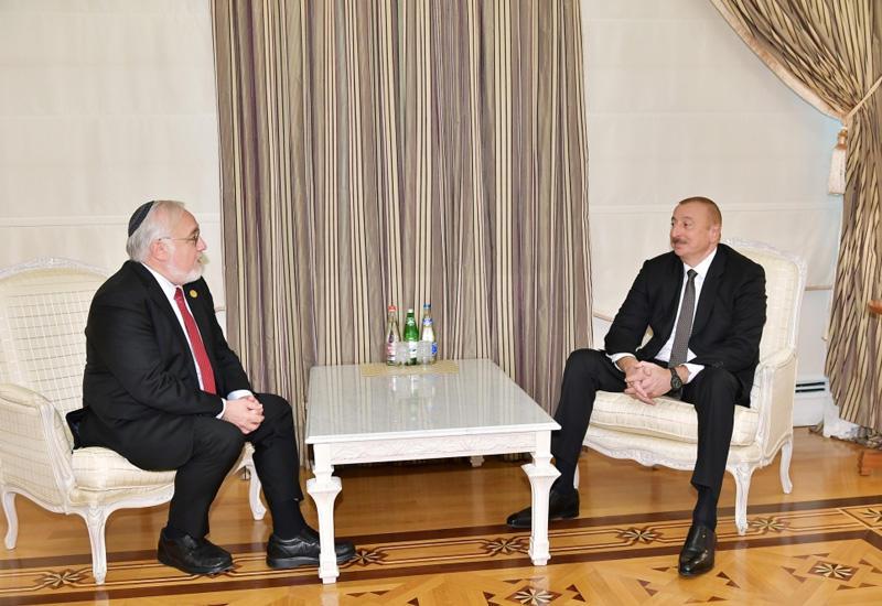 Президент Ильхам Алиев: Мы надеемся, что еврейские общины в мире присоединятся к нам и заставят правительство Армении снести памятник Гарегину Тер-Арутюняну