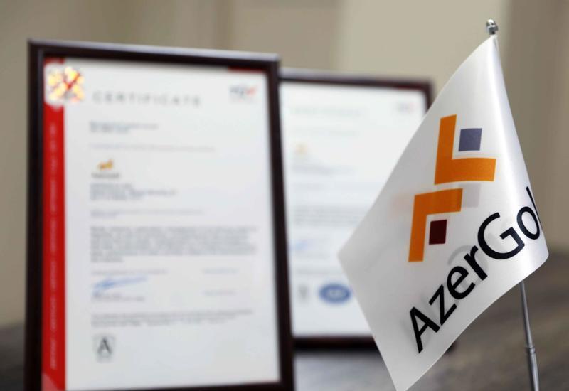 """ЗАО """"AzerGold"""" получил сертификаты международных стандартов"""