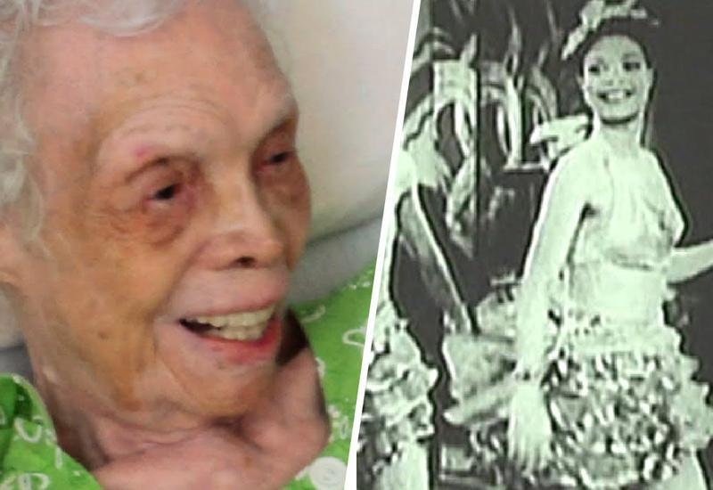 102-летняя танцовщица впервые увидела себя на экране