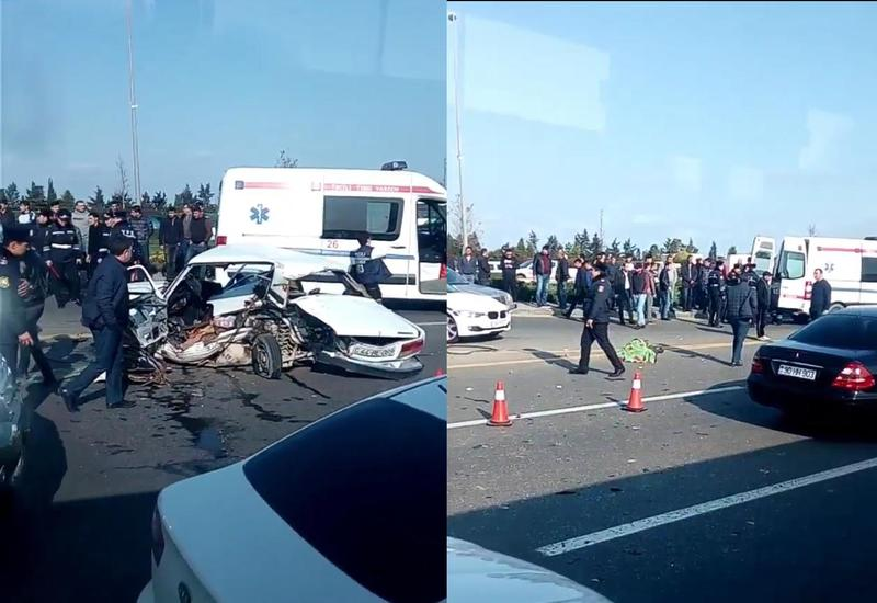 Цепная авария на аэропортовской дороге в Баку, есть погибшие
