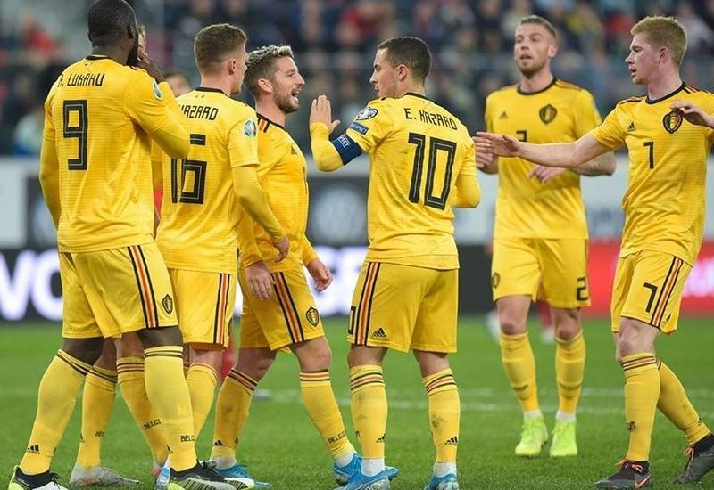 Сборная России потерпела разгром в матче отбора Евро-2020 с Бельгией