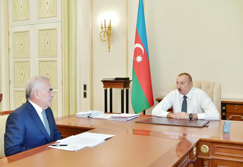 Президент Ильхам Алиев принял Васифа Талыбова