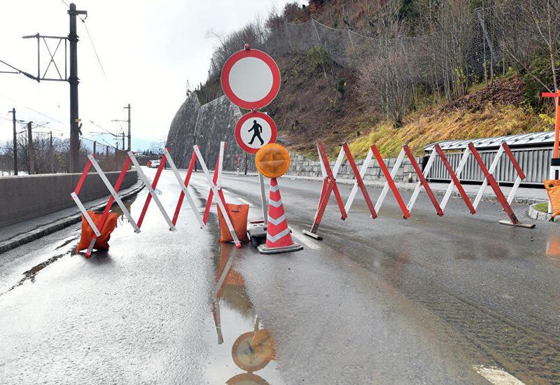Непогода в Австрии, блокированы дороги
