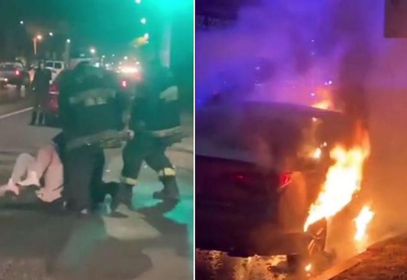 Автовладелец атаковал двух пожарных, которые слишком долго тушили его машину