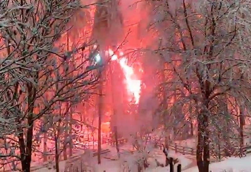 «Огненные деревья» на горнолыжном курорте попали на камеры