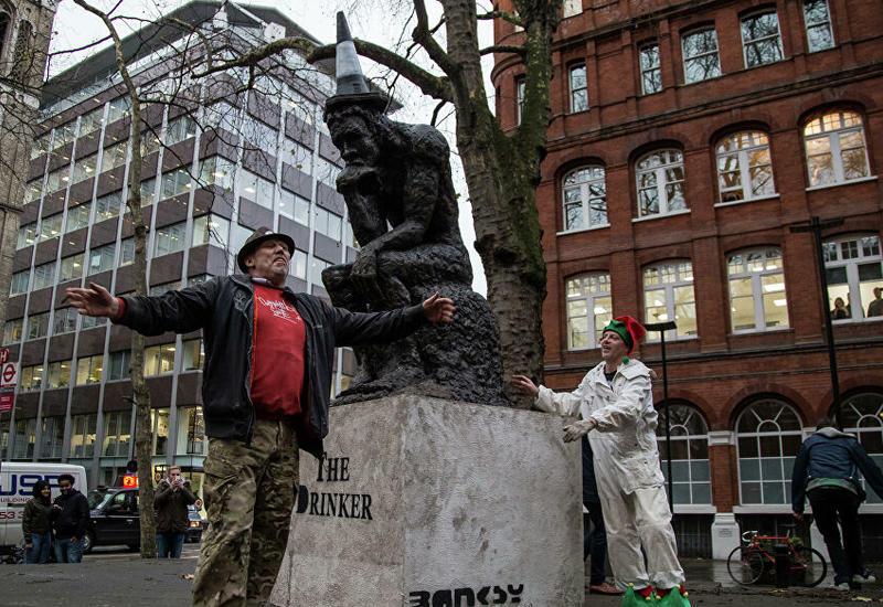 Скандальную скульптуру Бэнкси сняли с аукциона в последнюю минуту