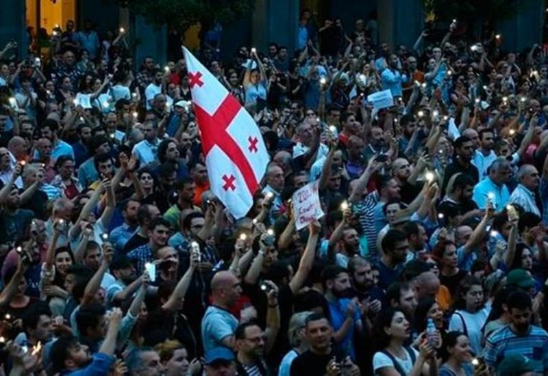 В Грузии прошла шумная акция протеста