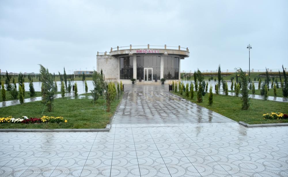 Президент Ильхам Алиев ознакомился с условиями, созданными в новой части Сумгайытского бульварного комплекса