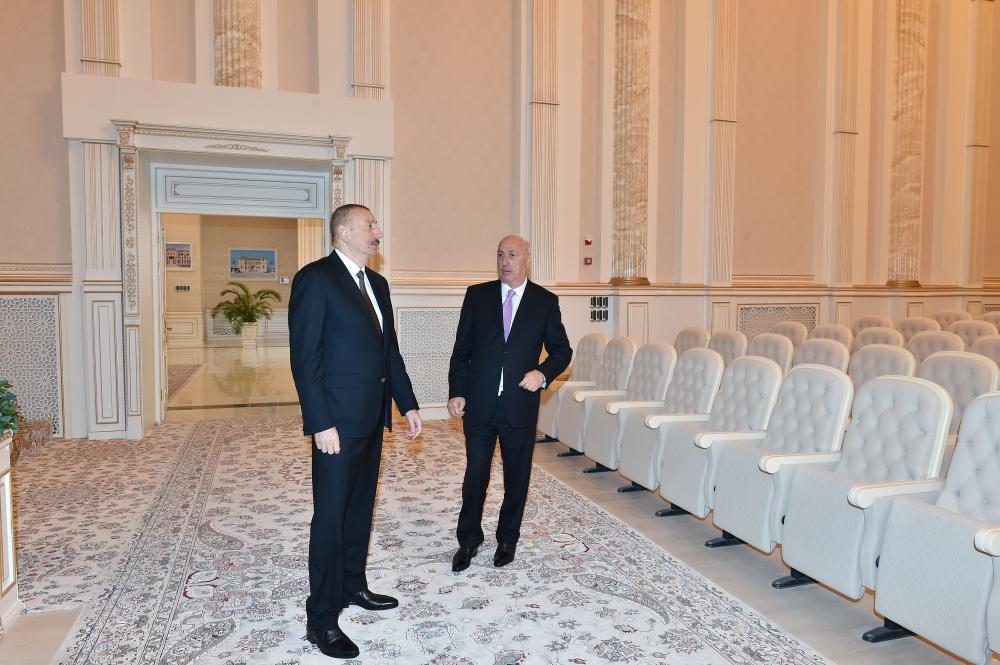 Президент Ильхам Алиев принял участие в открытии Центра мугама в Сумгайыте