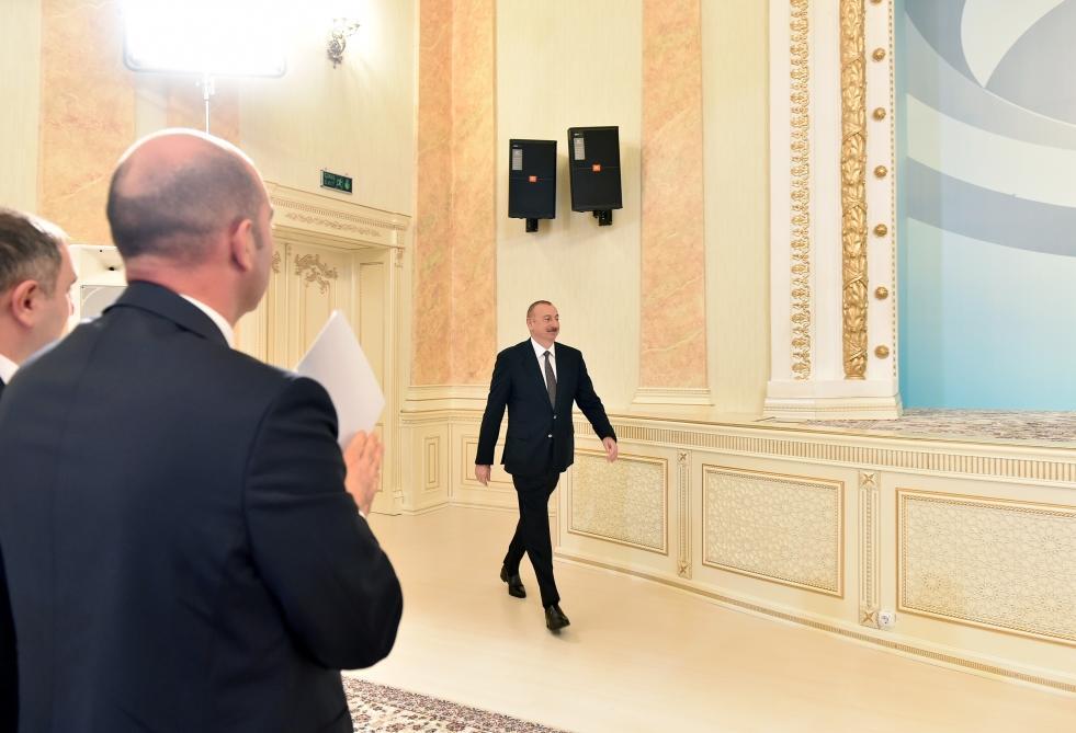 Президент Ильхам Алиев принял участие в мероприятии, посвященном 70-летию Сумгайыта