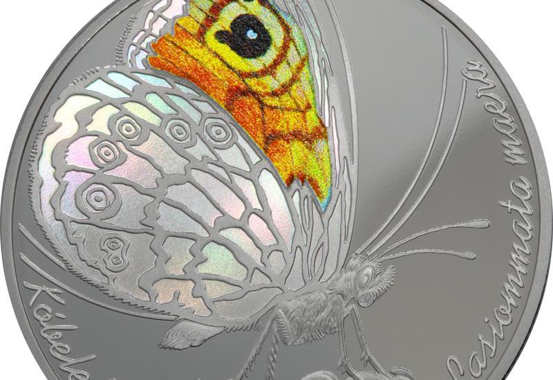 Нацбанк Казахстана выпустил коллекционные монеты с изображением бабочки