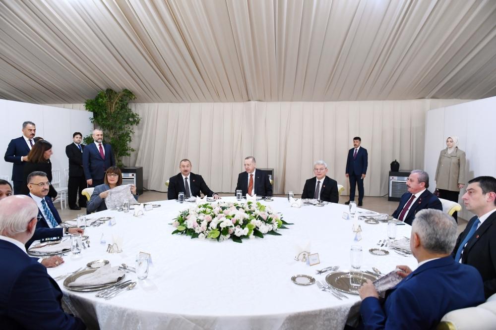 Президент Ильхам Алиев принял участие в приеме в честь участников церемонии открытия части проекта TANAP, соединяющейся с Европой